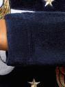 Платье флисовое с аппликацией oodji #SECTION_NAME# (синий), 59801019/24018/7912P - вид 5