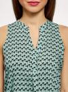 Топ базовый из вискозы oodji для женщины (зеленый), 14911008-1B/48756/6529O - вид 4