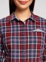 Рубашка принтованная хлопковая oodji #SECTION_NAME# (красный), 11406019/43593/4979C - вид 4