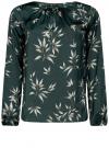 Блузка свободного кроя с вырезом-капелькой oodji #SECTION_NAME# (зеленый), 21400321-2/33116/6923O