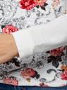 Свитшот с принтом на фактурной ткани oodji #SECTION_NAME# (слоновая кость), 14801010-8/19808/1241F - вид 5