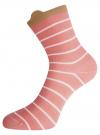 Комплект из трех пар хлопковых носков oodji для женщины (разноцветный), 57102802T3/47469/22 - вид 4