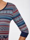 Платье жаккардовое с геометрическим узором oodji для женщины (синий), 14001064-5/46025/7949J - вид 5