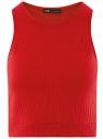 Топ укороченный в рубчик oodji для женщины (красный), 15F15001/46412/4500N