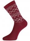Комплект из шести пар хлопковых носков oodji для женщины (разноцветный), 57102902-5T6/49118/46