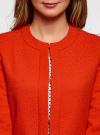 Пальто из фактурной ткани на крючках oodji #SECTION_NAME# (красный), 10103015-1/46409/4500N - вид 4