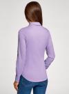 Рубашка базовая с нагрудными карманами oodji #SECTION_NAME# (фиолетовый), 11403222B/42468/8000N - вид 3