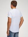 Рубашка хлопковая с коротким рукавом oodji #SECTION_NAME# (белый), 3L400002M/48202N/1270S - вид 3