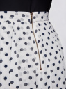 Юбка со складками из струящейся ткани oodji #SECTION_NAME# (белый), 21600285-2B/17358/1279D - вид 5
