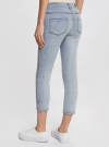 Капри джинсовые с потертостями oodji #SECTION_NAME# (синий), 12105016/45253/7000W - вид 3