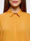 Блузка из струящейся ткани oodji #SECTION_NAME# (оранжевый), 11400368-3/32823/5200N - вид 4