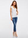 Комплект из двух базовых футболок oodji для женщины (белый), 14711002T2/46157/1000N