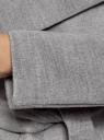 Пальто без застежки с поясом oodji #SECTION_NAME# (серый), 10104042-1/47736/2501M - вид 5