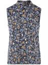 Топ базовый из струящейся ткани oodji #SECTION_NAME# (синий), 14911006-2B/43414/7919F