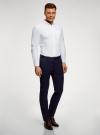 Рубашка из фактурной ткани oodji #SECTION_NAME# (белый), 3B310007M/49257N/1000O - вид 6