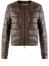 Куртка стеганая с круглым вырезом oodji #SECTION_NAME# (коричневый), 10203050-2B/33445/3900N
