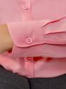 Блузка базовая из вискозы oodji #SECTION_NAME# (розовый), 11411136B/26346/4100N - вид 5