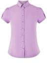 Рубашка хлопковая с коротким рукавом oodji #SECTION_NAME# (фиолетовый), 13K01004-1B/14885/8001N