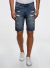 Шорты джинсовые oodji #SECTION_NAME# (синий), 6L220017M/35771/7500W - вид 2