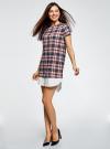 Платье прямого силуэта с декоративной вставкой oodji #SECTION_NAME# (разноцветный), 11911013-1/45879/4575C - вид 6