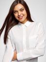Блузка прямого силуэта с нагрудным карманом oodji #SECTION_NAME# (белый), 11411134-1B/48853/1200N - вид 4