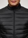 Куртка стеганая с воротником-стойкой oodji для мужчины (черный), 1B111008M/49002N/2900N