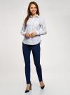 Рубашка базовая с нагрудным карманом oodji #SECTION_NAME# (белый), 11403205-9/26357/1075G - вид 6