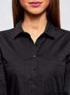 Рубашка базовая с нагрудными карманами oodji #SECTION_NAME# (черный), 11403222B/42468/2900N - вид 4