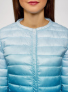 Куртка стеганая с круглым вырезом oodji для женщины (синий), 10204040-1B/42257/7075T - вид 4