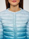 Куртка стеганая с круглым вырезом oodji #SECTION_NAME# (синий), 10204040-1B/42257/7075T - вид 4