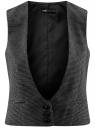 Жилет классический с декоративными карманами oodji для женщины (серый), 12300102/22124/2539C