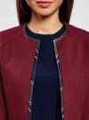 Жакет-болеро с контрастной отделкой oodji #SECTION_NAME# (красный), 22A00002/31291/4900N - вид 4