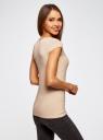 Комплект из двух базовых футболок oodji для женщины (разноцветный), 14711002T2/46157/19RAN
