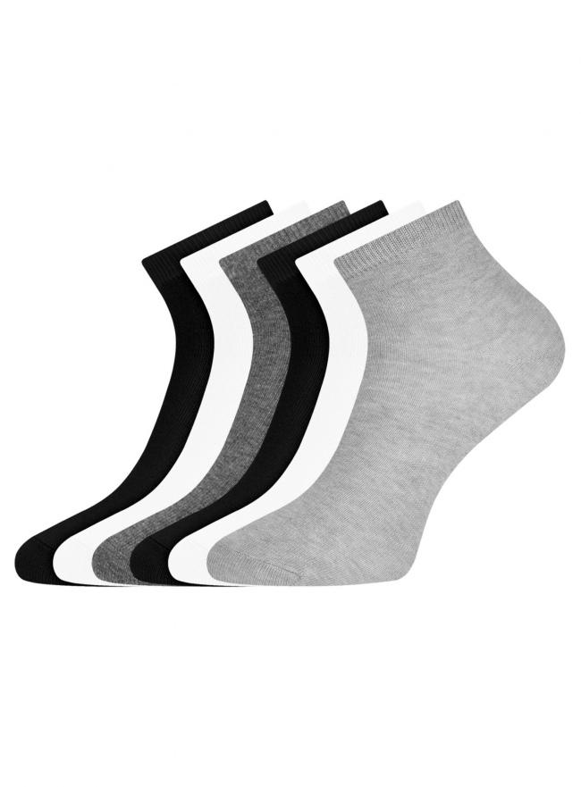 Комплект укороченных носков (6 пар) oodji для женщины (разноцветный), 57102418T6/47469/73