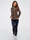 Рубашка принтованная хлопковая oodji для женщины (синий), 11406019/43593/7957C - вид 6