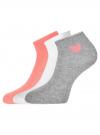 Комплект из трех пар хлопковых носков oodji для женщины (разноцветный), 57102705T3/48022/19 - вид 2