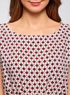 Блузка принтованная из вискозы oodji #SECTION_NAME# (белый), 11400345-2/24681/1249G - вид 4