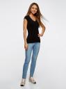 Комплект из двух базовых футболок oodji для женщины (черный), 14711002T2/46157/2900N