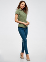 Рубашка базовая с коротким рукавом oodji #SECTION_NAME# (зеленый), 11402084-5B/45510/6200N - вид 6