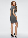 Платье базовое приталенного силуэта oodji #SECTION_NAME# (серый), 12C02008B/14917/2501M - вид 3