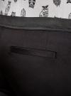 Брюки укороченные на эластичном поясе oodji для женщины (черный), 11706203-1/19887/2900N - вид 4