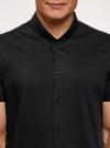 Рубашка базовая с коротким рукавом oodji для мужчины (черный), 3B240000M/34146N/2900N - вид 4