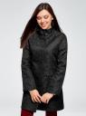 Пальто прямого силуэта из фактурной ткани oodji #SECTION_NAME# (черный), 10104043/43312/2900N - вид 2