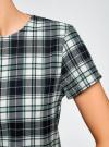 Платье прямого силуэта с декоративной вставкой oodji #SECTION_NAME# (зеленый), 11911013-1/45879/7973C - вид 5