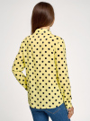 Блузка вискозная прямого силуэта oodji #SECTION_NAME# (желтый), 11411098-3/24681/5029D - вид 3