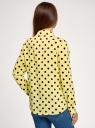 Блузка вискозная прямого силуэта oodji для женщины (желтый), 11411098-3/24681/5029D