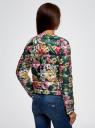 Куртка стеганая с круглым вырезом oodji #SECTION_NAME# (зеленый), 10203072B/42257/6955F - вид 3