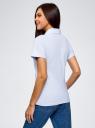 Поло на молнии с вышивкой oodji для женщины (белый), 19308002-1/48433/1000P
