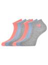 Комплект из шести пар хлопковых носков oodji #SECTION_NAME# (разноцветный), 57102705T6/48022/15 - вид 2