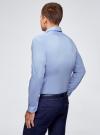 Рубашка базовая приталенная oodji для мужчины (синий), 3B140000M/34146N/7002N - вид 3